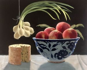 Eleanor Fein 'Still LIfe of Peaches'