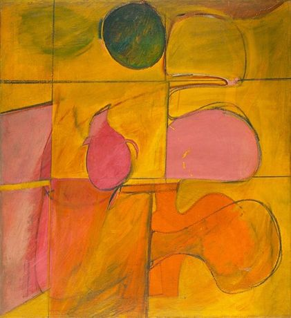 Artists of the New York School; Willem de Kooning  Abstract  1939-40  Oil on canvas  37 1/4 x 34 1/4 in.