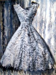 'Miss Havisham's Dress' - watercolour + gesso