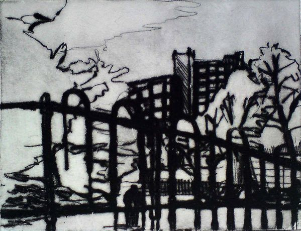 Southwark One Day, Drypoint, Chris Christodoulou