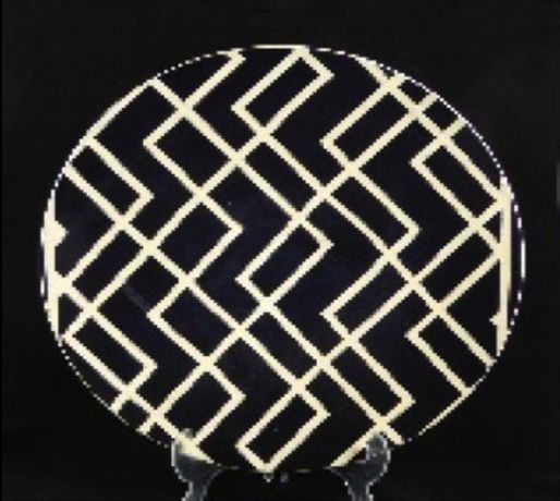 'Black and White Deco Bowl' - ceramic - 47.5cm diameter - David Gee