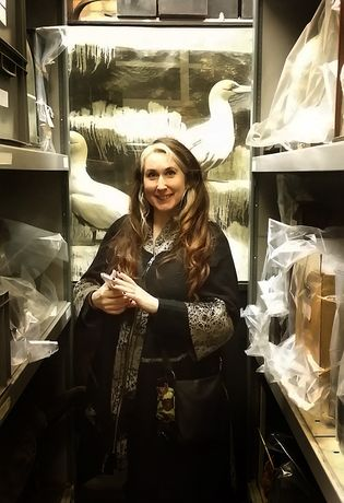Lucy Lyons in Ipswich Museum stores