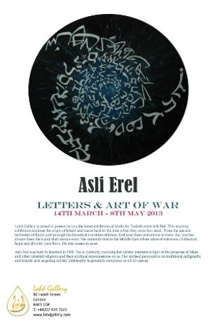 Asli Erel: Letters and Art of War: Image 0