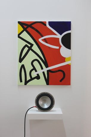 A painting used as a graphic score, initially intended to be played on a synthesiser (Rory Salter)