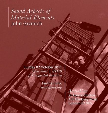 AudioKino Film Screening | Sound Aspects of Material Elements: John Grzinich: Image 0