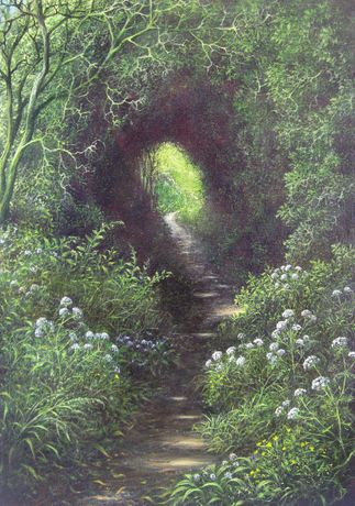Path to Homer. Oil on canvas board. Gerald Dewsbury