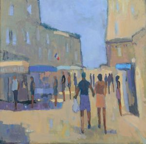 Market Day Provence Oil on linen 30''x30''