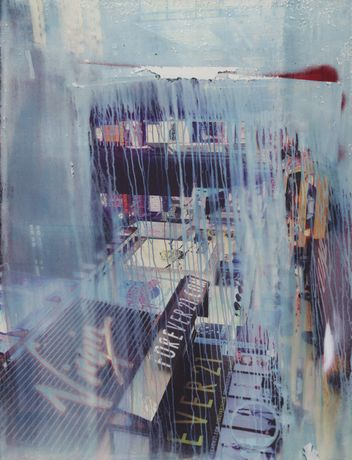 80 x 140 cm Rain in New York