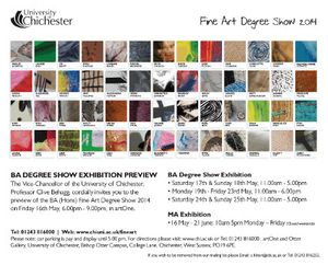 BA (Hons) Fine Art Degree Show 2014