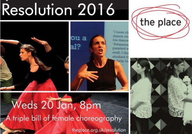 Flyer featuring the three choreographers