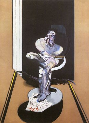 Francis Bacon, Study for a Portrait of Pope Innocent X, 1989, lithograph, 115.6 x 76.8 cm, © The Estate of Francis Bacon. All rights reserved  DACS 2016
