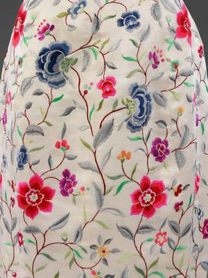 Wild silk evening dress (detail), Cristóbal Balenciaga with embroidery by Lesage, 1960 – 2, Paris, France. Museum no. T.27-1974. © Victoria and Albert Museum, London