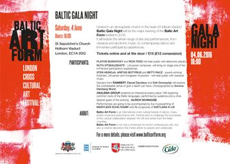 Baltic Art Form Gala Night - programme