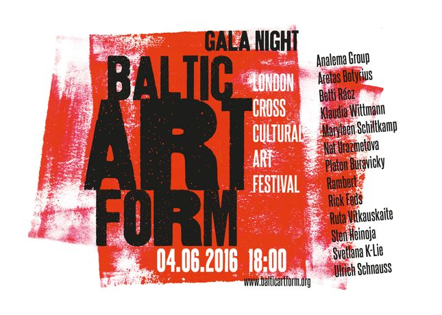 Baltic Art Form Gala Night - flyer
