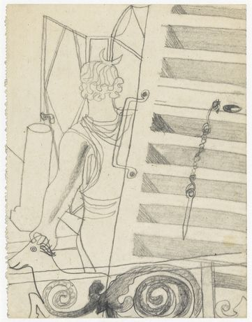 BEN NICHOLSON Hôtel du Pavillon, circa 1933 Pencil on paper