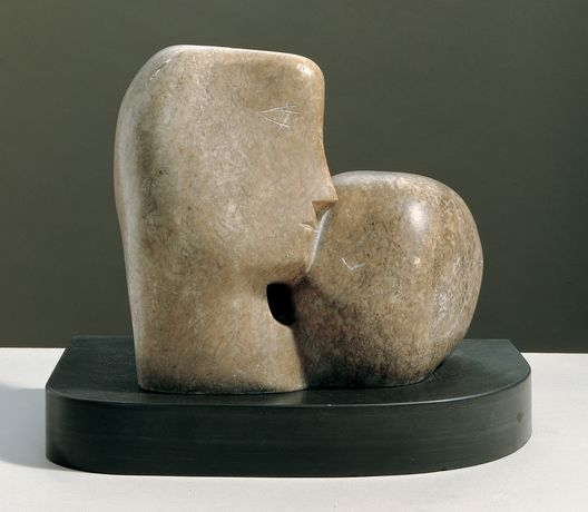 BARBARA HEPWORTH Two Heads, 1932 Cumberland alabaster