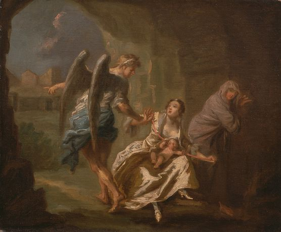 Joseph Highmore, The Angel of Mercy, c1746. Yale Center for British Art, Paul Mellon Collection