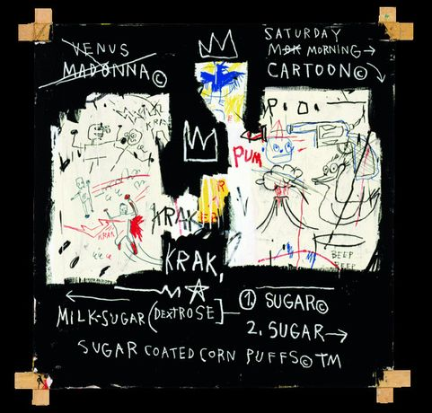 Jean-Michel Basquiat, a Panel of Experts, 1982, Courtesy the Montreal Museum of Fine Arts. Photo: Mfa, Douglas M. Parker © Estate of Jean-Michel Basquiat, Licensed by Artestar, New York