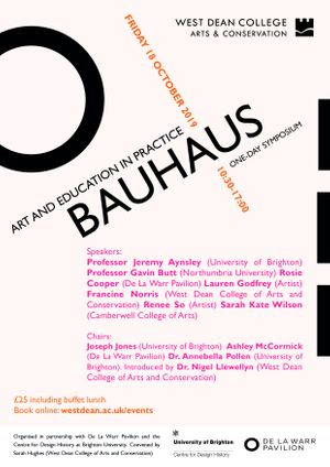 Bauhaus: Art and Education in Practice Symposium
