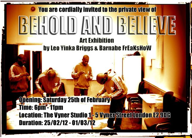 Behold and Believe @ The Vyner Studio: Image 0