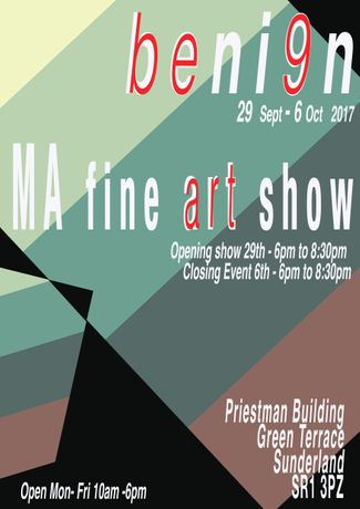 Beni9n - University of Sunderland MA Fine Art Show 2017