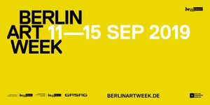 Berlin Art Week 2019