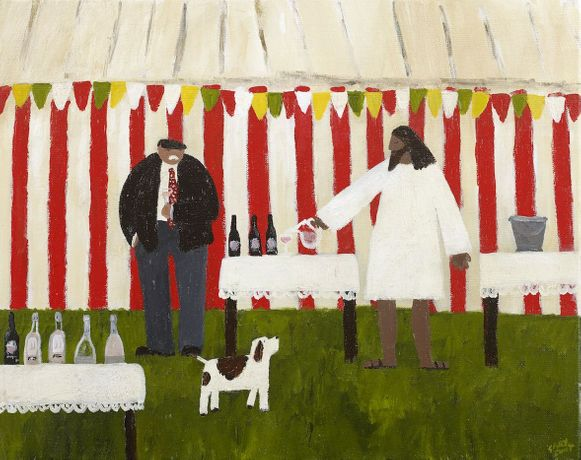 Gary Bunt. Water into Wine, 2019. Oil on Canvas. 16 x 20 cm. Courtesy of the artist.