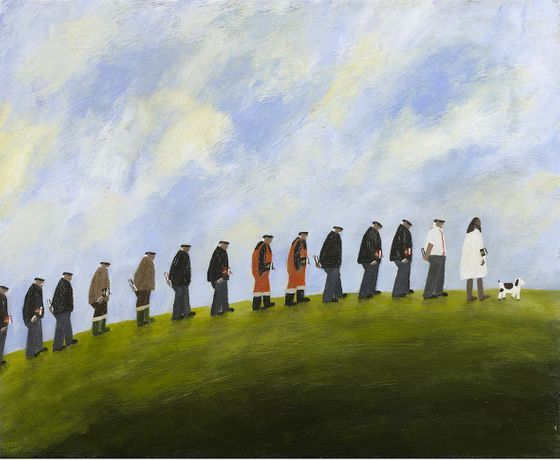 Gary Bunt. The Disciples, 2019. Oil on Canvas. 18 x 22 cm. Courtesy of the artist.