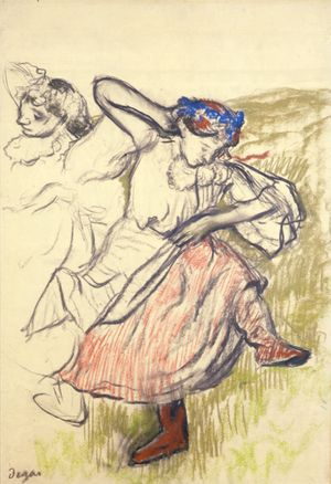 BERMG: 1432 Edgar Degar - Russian Dancers (pastel on tracing paper) Courtesy Berwick Museum & Art Gallery