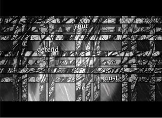 Beryl Korot Etty, 2009-2010 Single-channel video (black and white, sound), media player, screen or projector Dimensions variable, landscape orientation 12 min Edition of 6