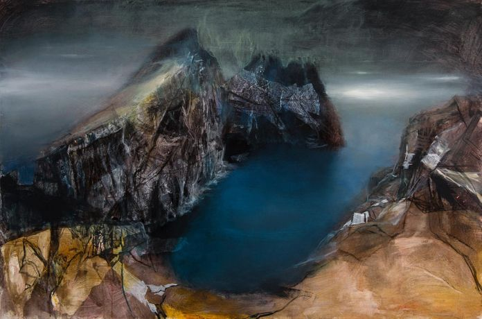 Dun from Hirta by Beth Robertson Fiddes