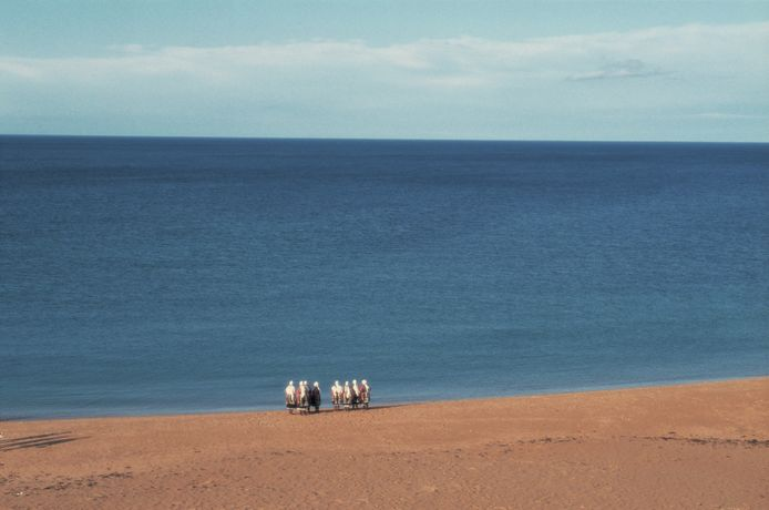 The Bistritsa Babi / Bethan Huws 'A Work for the North Sea'. Sugar Sands, Longhoughton, Northumberland, 22,23 and 24 July 1993. Commissioned by Artangel