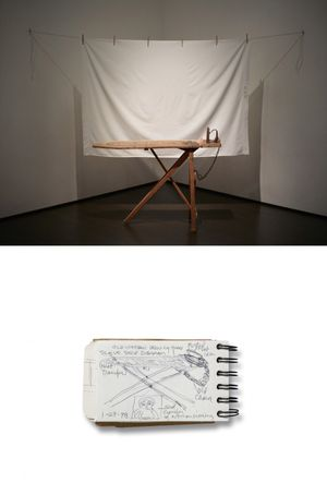 Top:Betye Saar, I'll Bend But I Will Not Break, 1998, Los Angeles County Museum of Art, gift of Lynda and Stewart Resnick through the 2018 Collectors Committee, © Betye Saar, courtesy of the artist and Roberts Projects, Los Angeles, California Bottom: Betye Saar, Sketchbook, 1998, 1998, Betye Saar, Collection of Betye Saar, courtesy of the artist and Roberts Projects, Los Angeles, CA, © Betye Saar