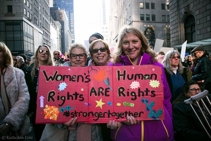 Photo Credit: Women's March NYC by Karla Ann Cote, January 21, 2017 via Flickr Creative Commons.
