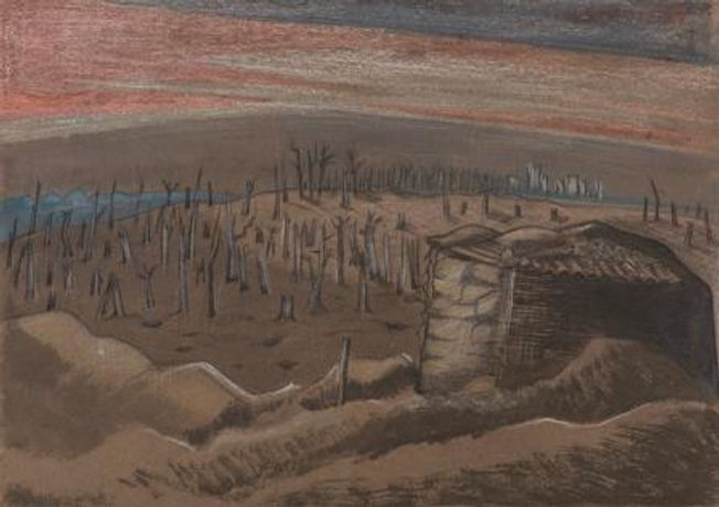 Paul Nash, Sanctuary Wood, 1917  Collection Grundy Art Gallery, Blackpool