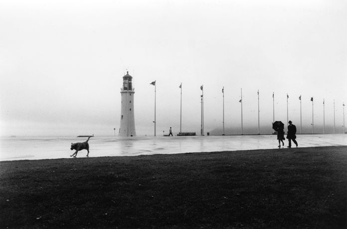 Roger Mayne - Plymouth Hoe, Devon, on a wet day copyright Mary Evans Picture Library