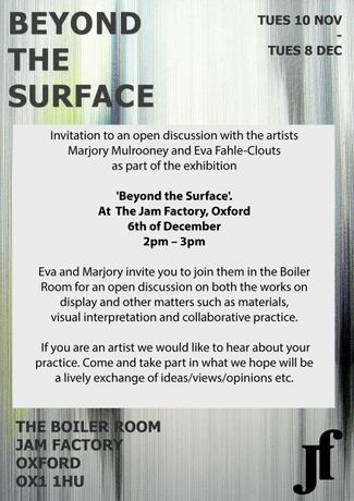Beyond The Surface - an open discussion with Artists: Image 0