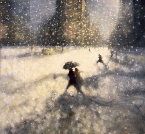 Bill Jacklin Snow, Times Square I, 2008     oil on canvas     72 x 78 inches