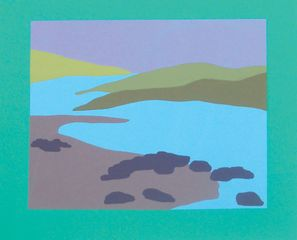 Scottish Isle, monoprint