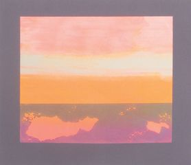 Suffolk Sunset, monoprint