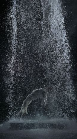 Bill Viola, Tristan's Ascension (The Sound of a Mountain Under a Waterfall), 2005.