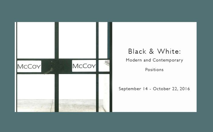 BLACK & WHITE: Modern and Contemporary Positions