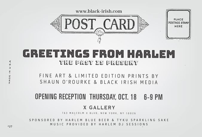 Black-Irish presents Greetings from Harlem
