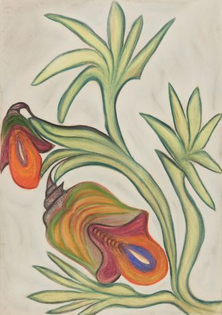 Anna Zemánková, Untitled, Early 1960s, Pastel and Indian ink on paper, 34.25 x 24.41 inches, 87 x 62 cm, AZe 621