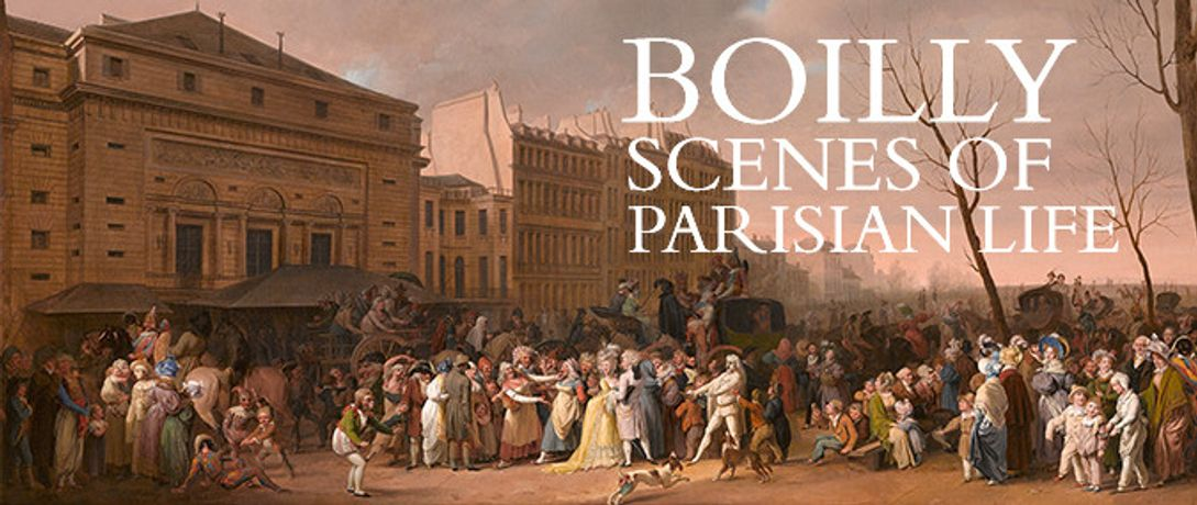 Louis-Léopold Boilly, 'A Carnival on the Boulevard du Crime', 1832 © The Ramsbury Manor Foundation  Photo © courtesy the Trustees