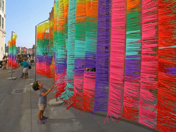Installations bold in color and scale are hallmarks of Old Pasadena's BoldPas event.