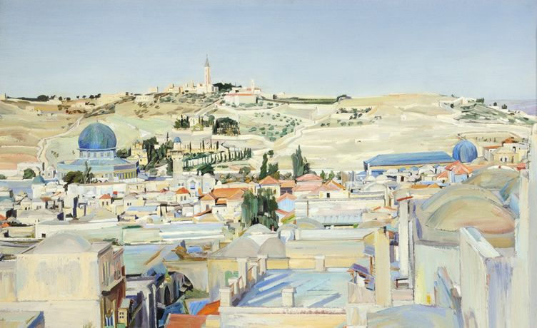 David Bomberg, Jerusalem City and Mount of Ascension, 1925, Ferens Art Gallery, Hull © The Estate of David Bomberg