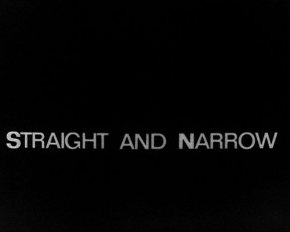 Taken from Beverly and Tony Conrad's Straight and Narrow, 1970. Courtesy of Beverly and Tony Conrad and LUX, London.