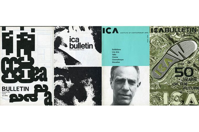 ICA Bulletin November 1965, January 1968, May 1994 and April 1997, courtesy of the Institute of Contemporary Arts, London.