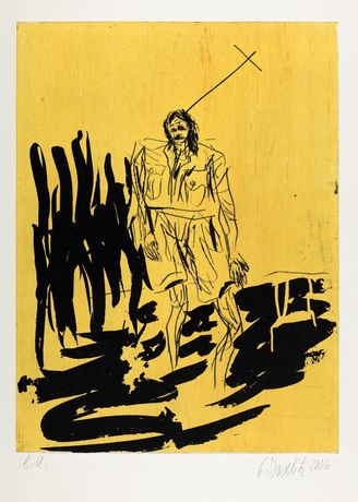 Georg Baselitz Der Hirte (Remix) 2006, Aquatint, 85 x 65 cm, Edition of 20